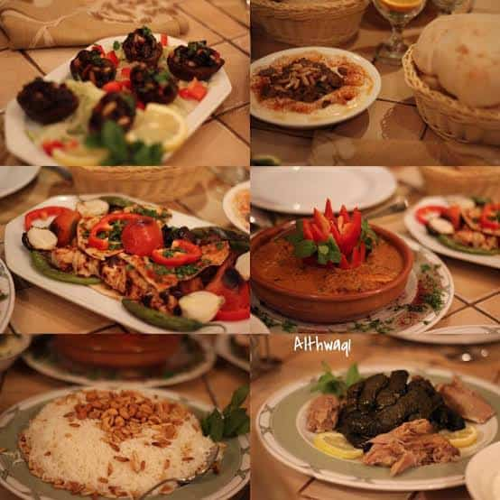 اطباق مطعم الريف اللبناني