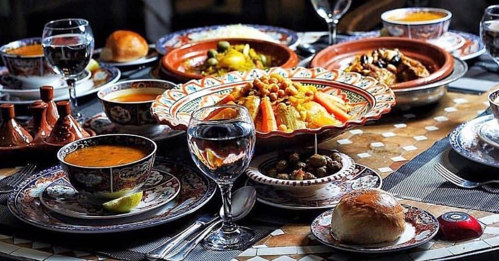 اطباق مطعم شاتو مراكش
