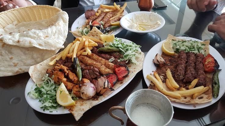 اطباق مطعم مشويات ميدان الشام