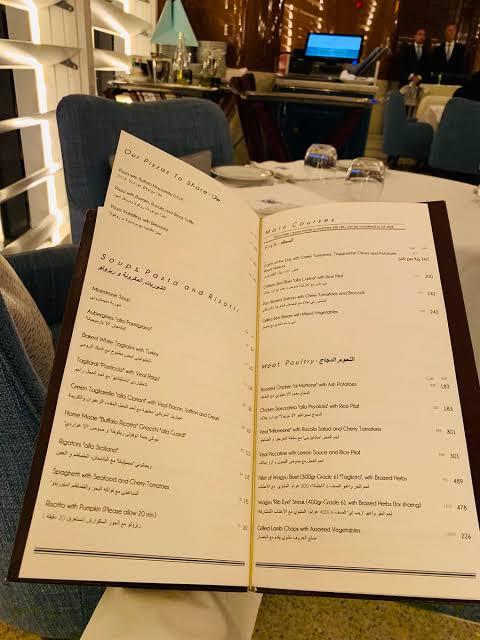 منيو مطعم تشبرياني الجديد