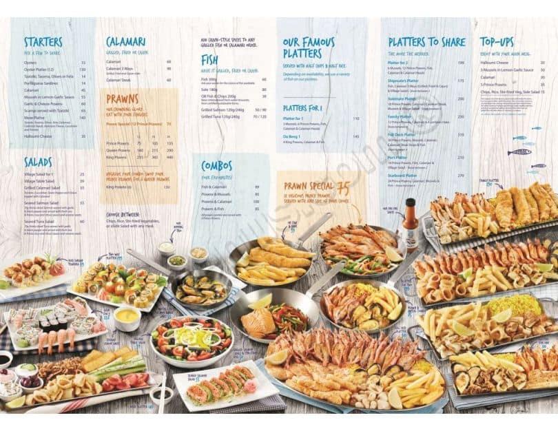 منيو مطعم اوشن باسكت في جدة