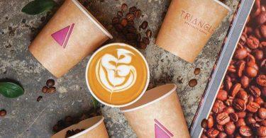 منيو مقهي قهوة مثلثة المميزة